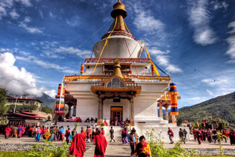 the memorial stupa thimphu, famous tourist places in bhutan, top 5 tourist attractions in bhutan, famous tourist places of bhutan, important tourist spots in bhutan